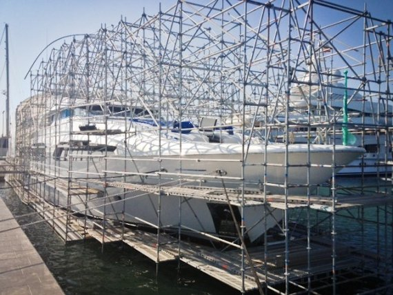 Scaffold to My Latitude Yacht